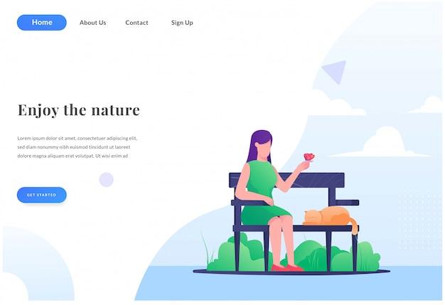 Goditi la landing page della natura