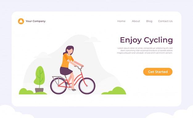 Goditi la landing page in bicicletta