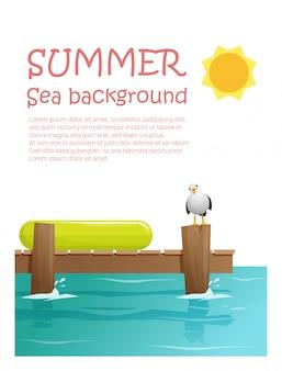Goditi lo sfondo delle vacanze estive tropicali