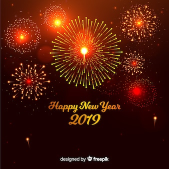 Gold new year background