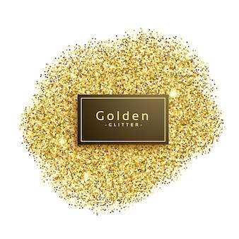 Golde glitter scintillii su sfondo bianco