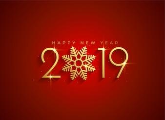 Golden 2019 felice anno nuovo sfondo