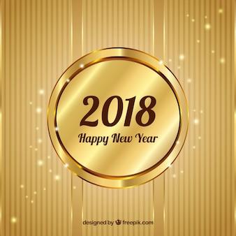 Golden background felice anno nuovo
