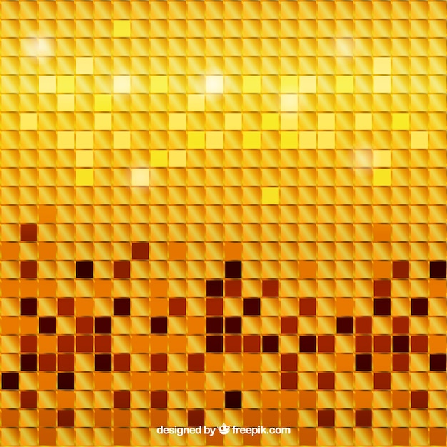 Golden background mosaico
