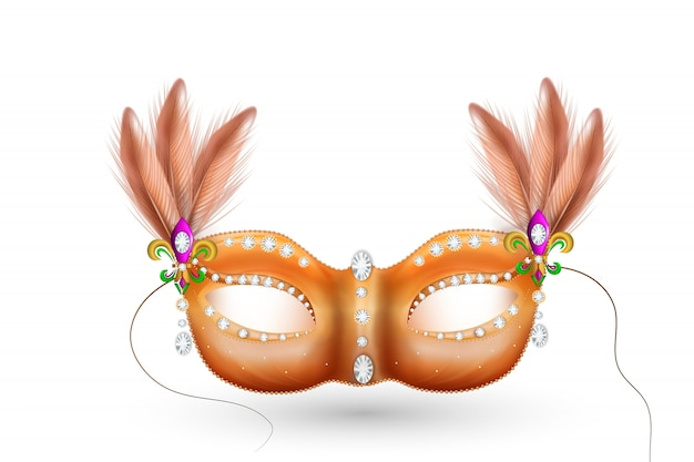 Golden carnival mask, masquerade, mardi gras. carnival glittering lettering design, carnival invitation.