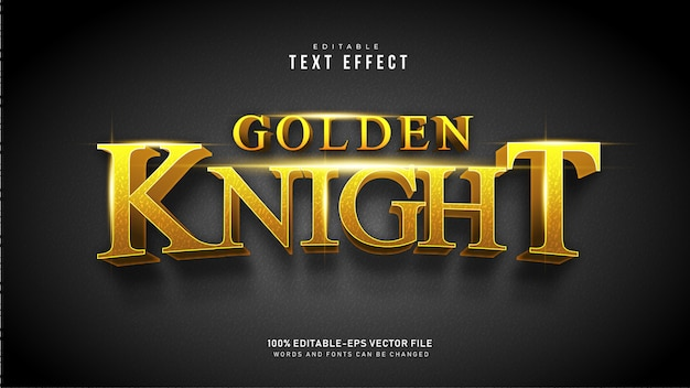 Golden knight text effect