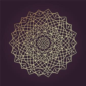 Golden lineart mandala