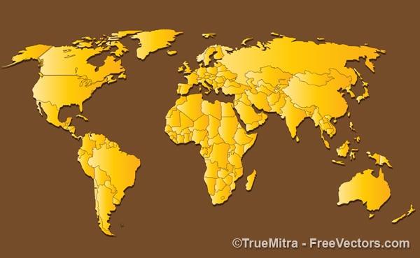 Golden mappa del mondo di fondo
