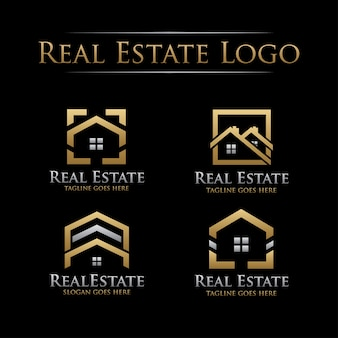 Golden real estate logo