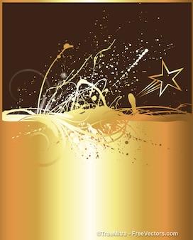 Goloden spruzzata di inchiostro con sfondo star