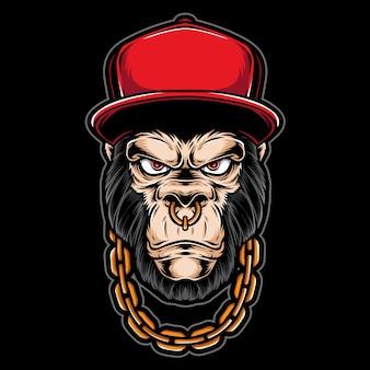 Gorilla di gangster con collana