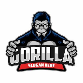 Gorilla logo sportivo