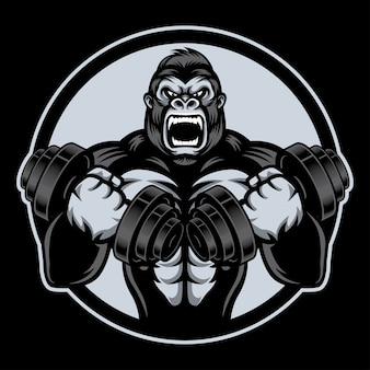 Gorilla storng con barble
