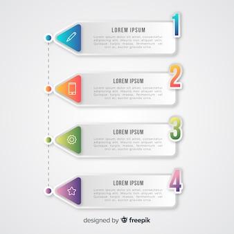 Gradi di infografica gradiente