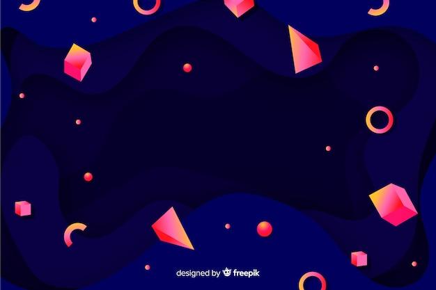 Gradiente 3d forme di sfondo