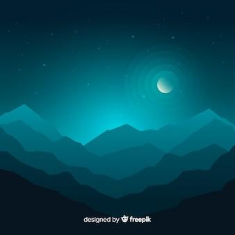 Gradiente blu del paesaggio delle montagne