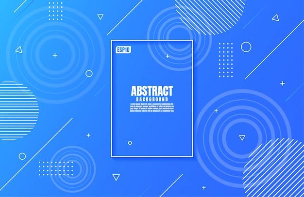 Gradiente blu moderno astratto di colori con forma geometrica per il fondo di affari