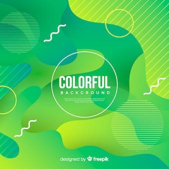 Gradiente colorato sfondo di forme fluide