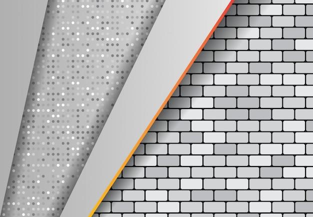 Gradiente di effetto astratto, punto sfondo grigio ponte