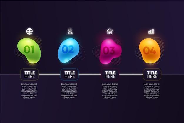 Gradiente di forma astratta infografica