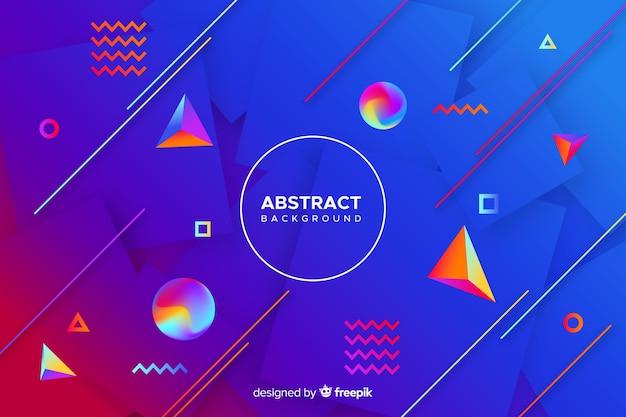 Gradiente di forme tridimensionali colorate sullo sfondo