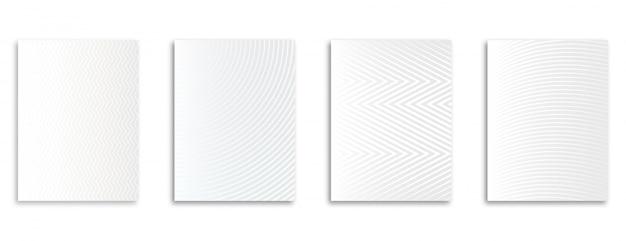 Gradiente di semitono bianco nel modello moderno