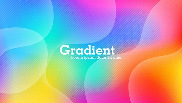 Gradiente di sfondo colorato astratto