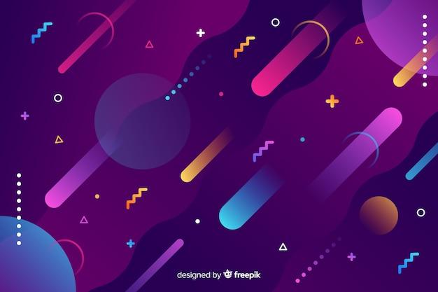 Gradiente di sfondo di forme geometriche dinamiche