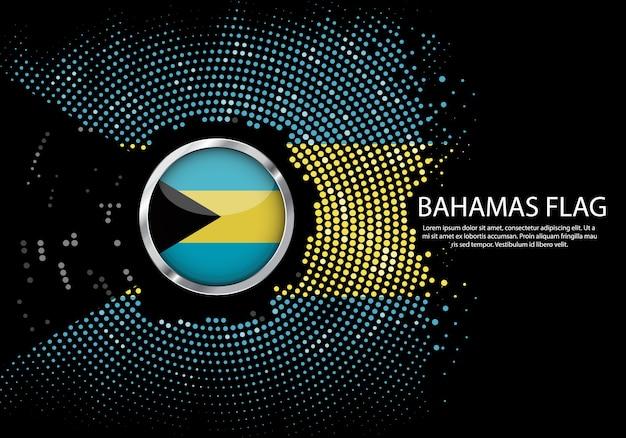 Gradiente di sfondo mezzitoni della bandiera delle bahamas