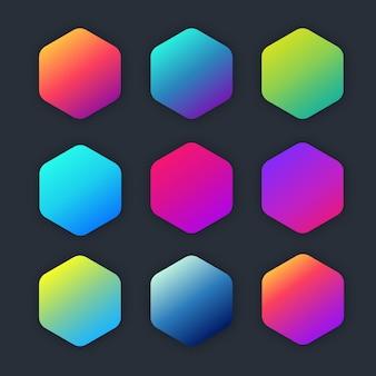 Gradiente luminoso colorato