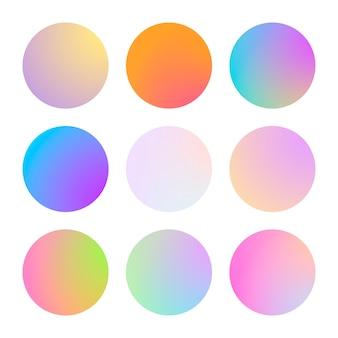 Gradiente moderno set di colori