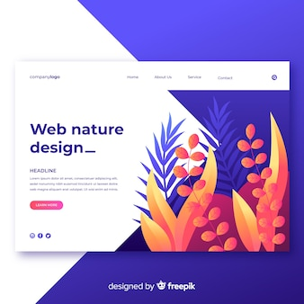 Gradiente natura web design