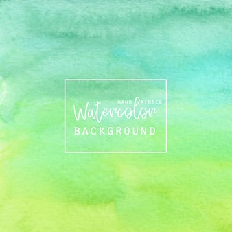 Gradiente verde sfondo acquerello