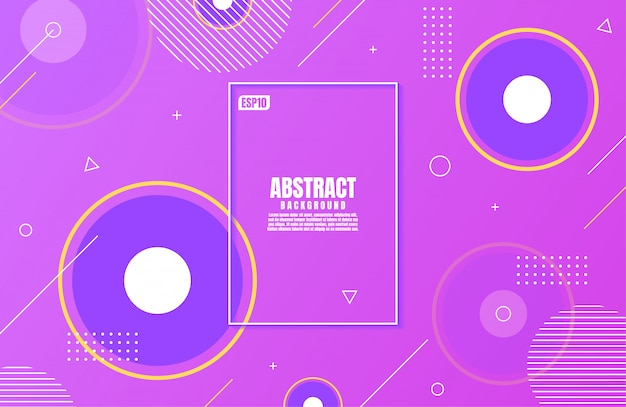Gradiente viola moderno astratto di colori con forma geometrica per il fondo di affari