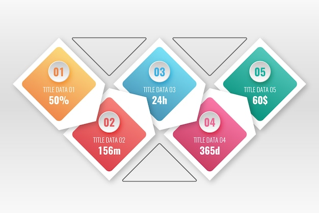 Gradini infografica gradiente
