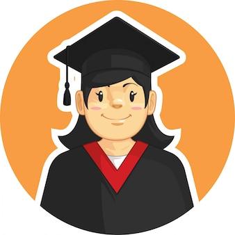 Graduazione school-college - ragazza