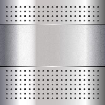 Graffiato, su fondo in metallo cromato