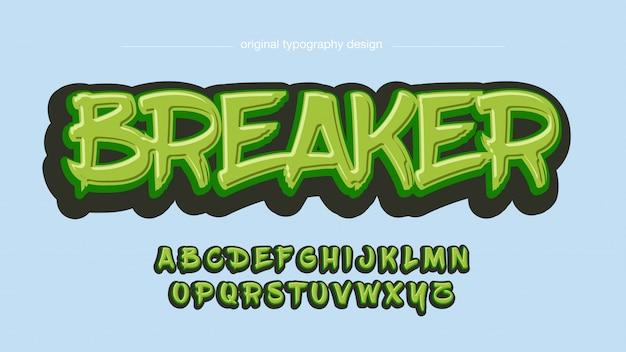 Graffiti verdi tipografia artistica stile grafico