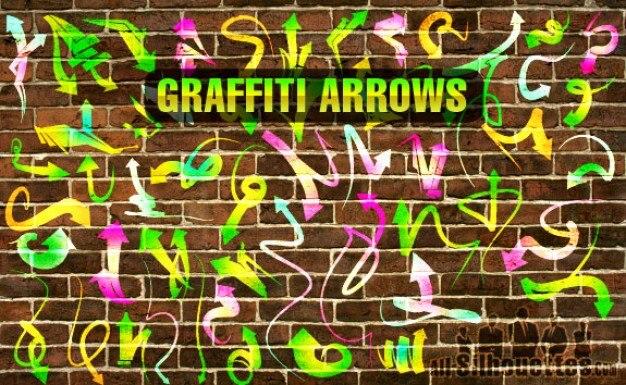 Graffiti vettore frecce silhouettes
