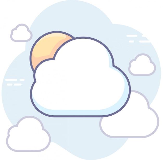Grafica aziendale con cloud e sole