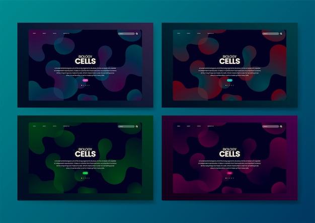 Grafica del sito web informativo delle cellule di biologia
