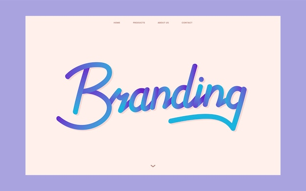 Grafica del sito web informativo di branding aziendale
