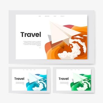Grafica del sito web informativo di viaggio e tempo libero
