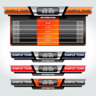 Grafica del tabellone segnapunti