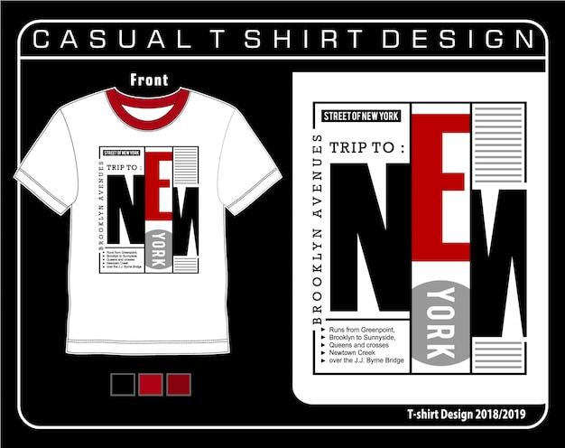 Grafica della maglietta di new york