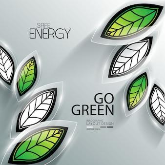 Grafica di informazioni aziendali per l'ambiente
