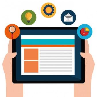 Grafica di marketing digitale e sociale.