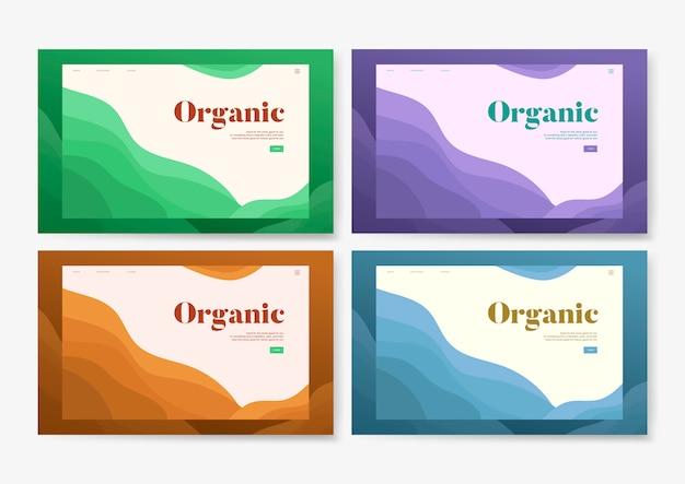 Grafica di sito web informativo piantagione organica