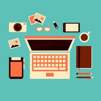 Grafica free business design piatto
