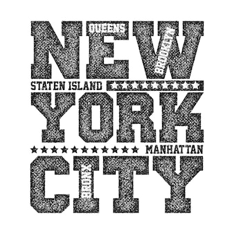 Grafica tipografica di new york city